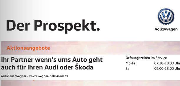 Autohaus Wagner Helmstedt Der Prospekt